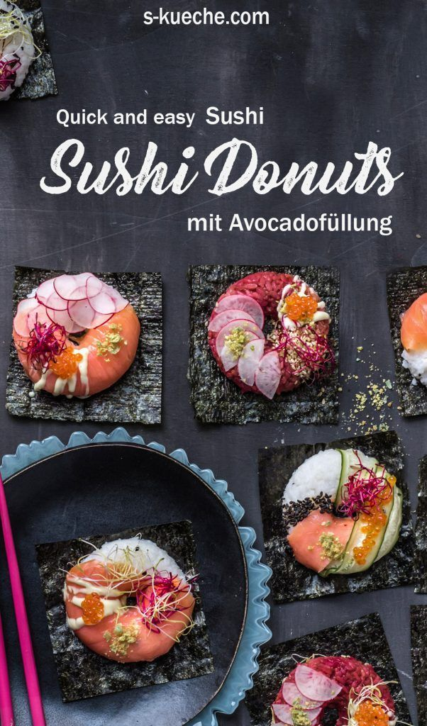 Photo of Sushi donuts with avocado filling – Onigriri meets Sushi
