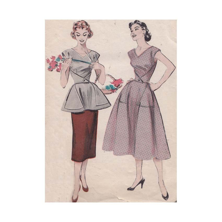 Quick and Easy Coverall Cobbler\'s Apron Top and Dress Butterick 6655 ...