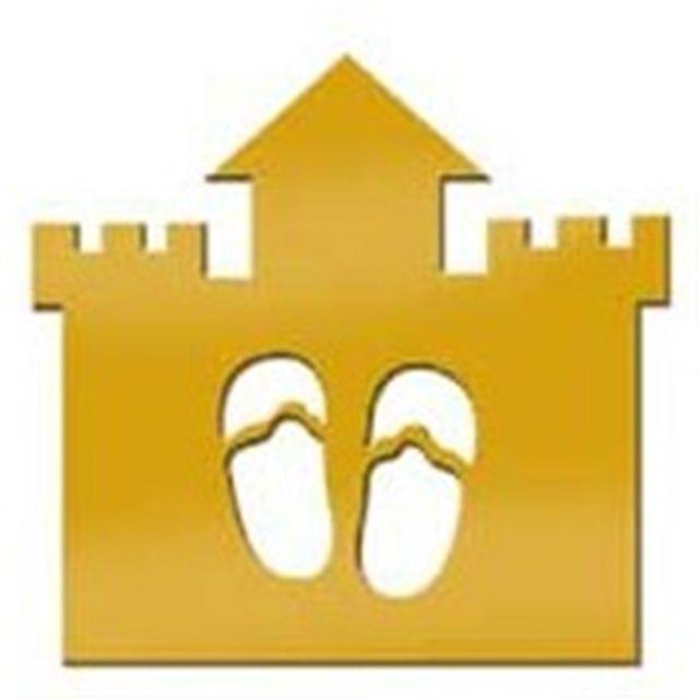 Stencil De Metal- Brass Stencils - Flip Flop Castle- Shaped - Casa do Scrapbooking