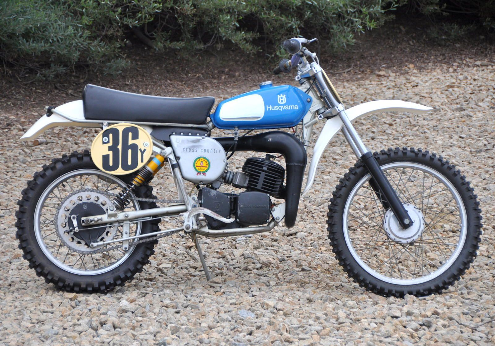 1976 Husqvarna 175cc Gp Cross Country Motorcross Bike Vintage Motocross Enduro Motorcycle