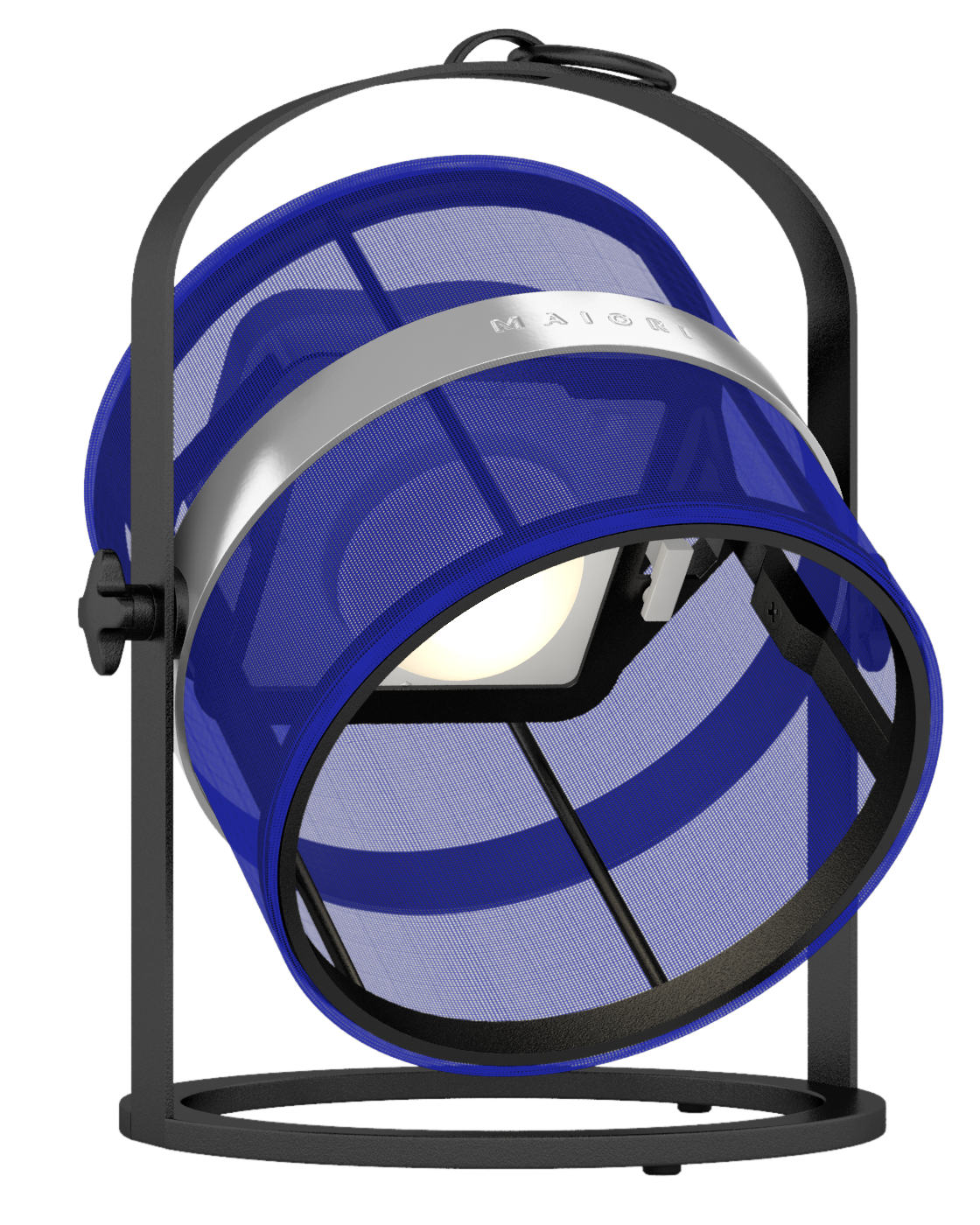 La Lampe Petite | Black Frame, Navy Blue Shade | View the
