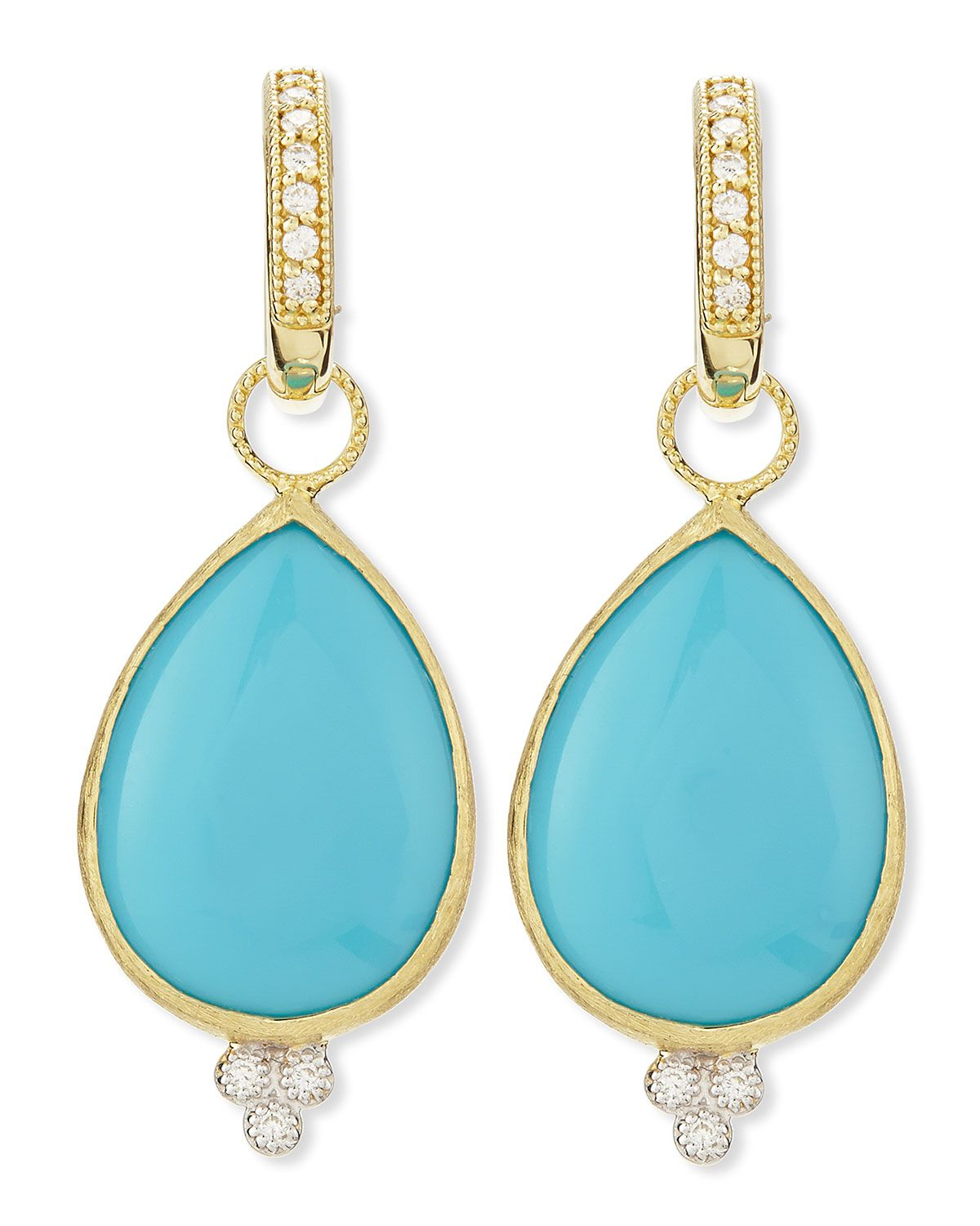 Jude Frances Large Pear Turquoise Earring Charms with Diamonds g1XCAWkwf3