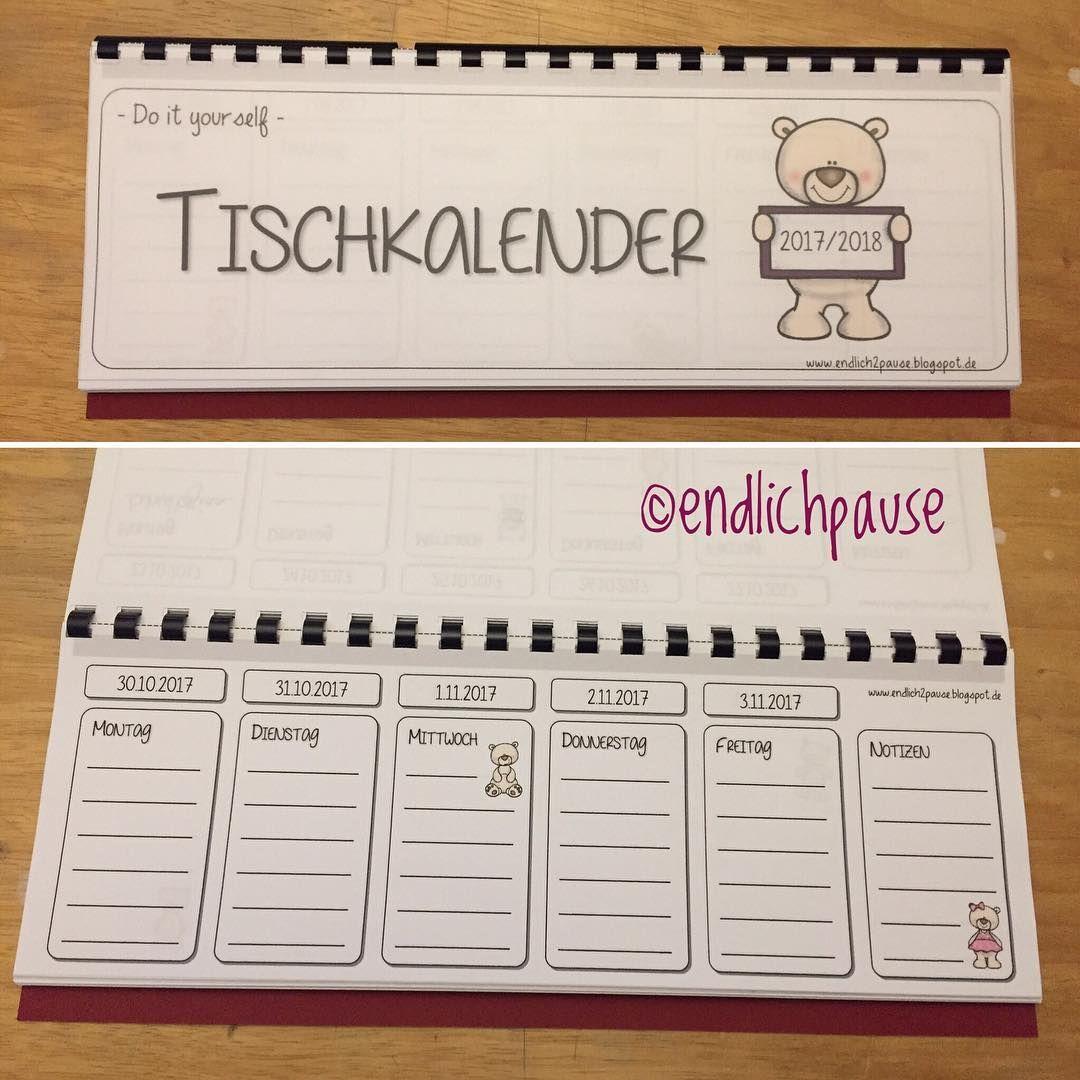 Und Ich Habe Es Endlich Geschafft Mir Selbst Den Tischkalender Zu Basteln Grundschule Grundschulmaterial Gru Lehrerpult Klassenraum Tischkalender