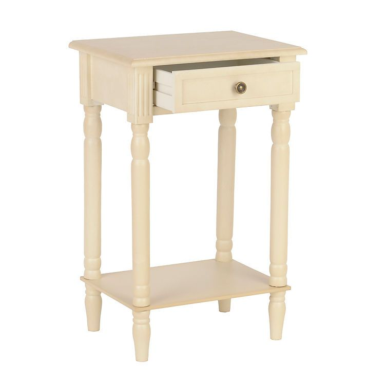 Swell Product Details Painted Ivory Side Table Shabby Chic Home Interior And Landscaping Palasignezvosmurscom