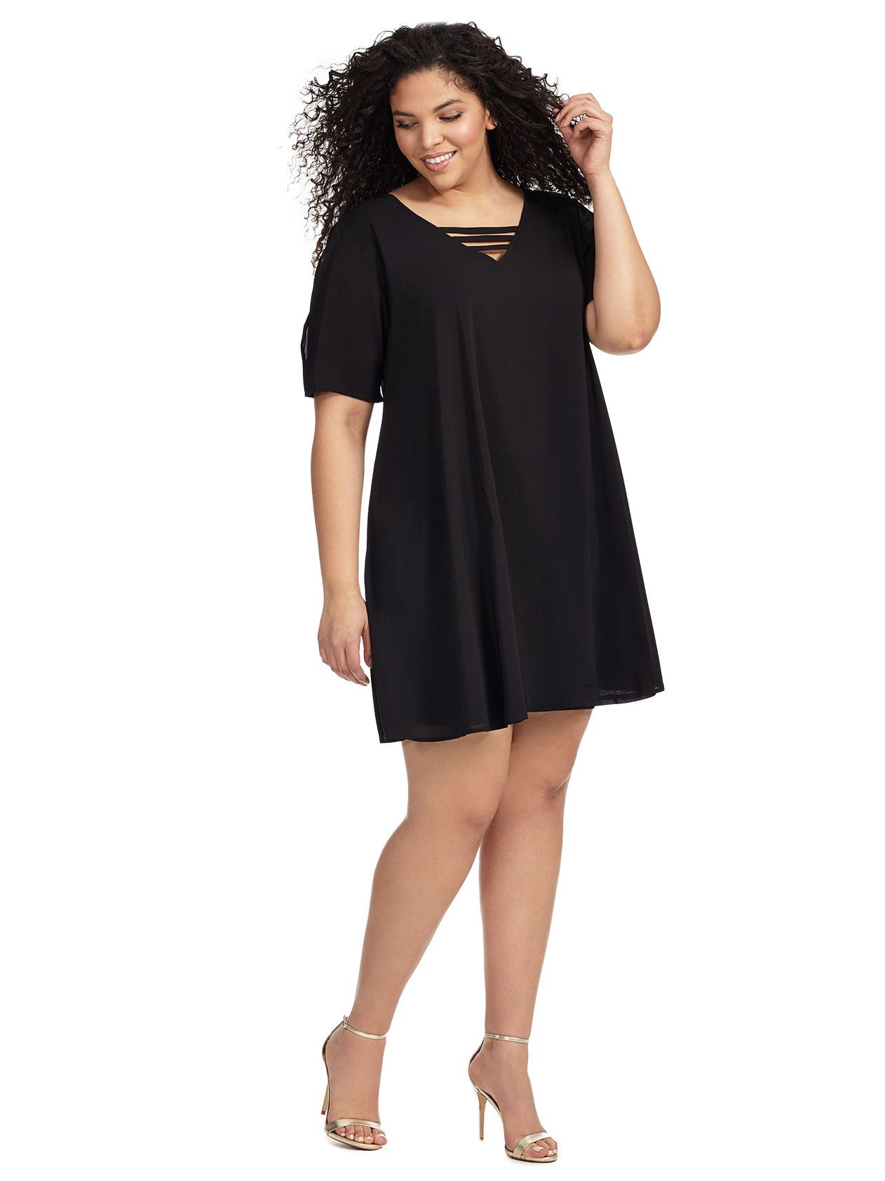 Swing dress in black new arrivals closet now pinterest
