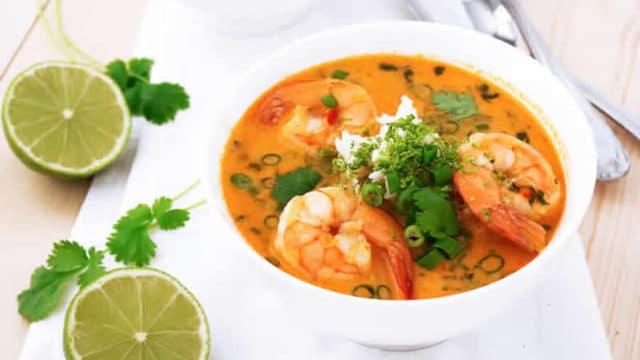 Soupe Thaï aux crevettes au Thermomix » Recette Thermomix #recettemonsieurcuisinesilvercrest