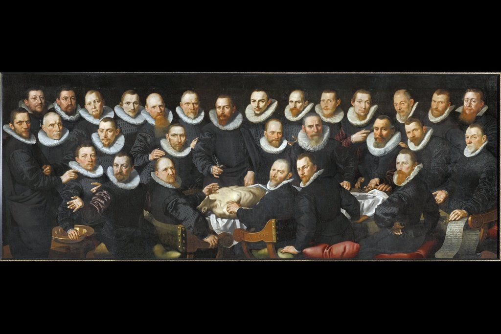 Lección de anatomia del doctor Sebastíaen Egbertsz de Aert Pietersz ...