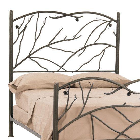 Pine Iron Headboard Frame Stone County Ironworks Wrought Iron Beds Iron Bed Wrought Iron Bed Frames
