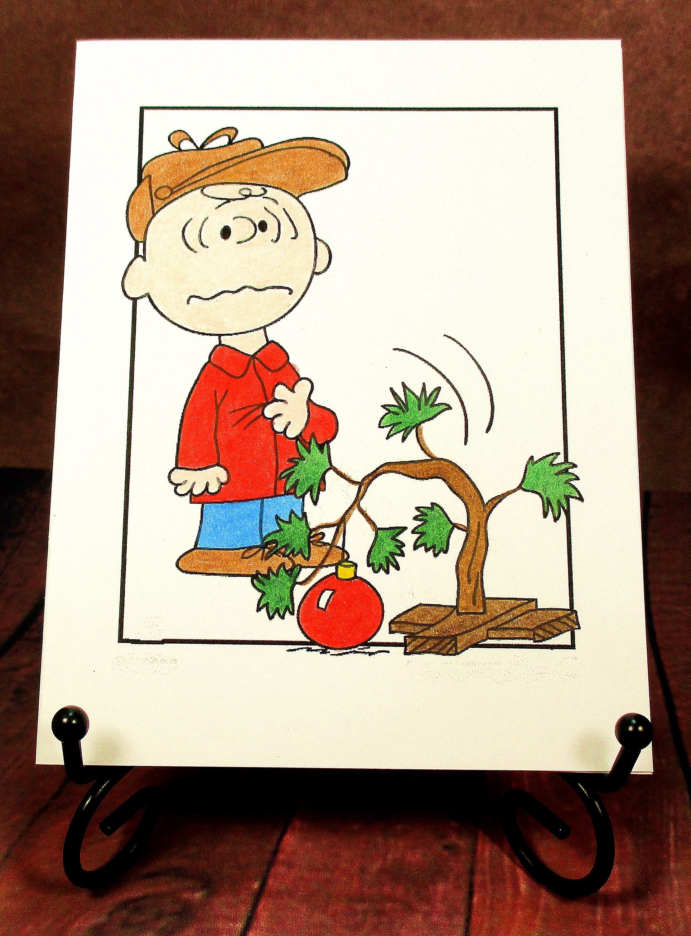 Charlie Brown Christmas Card: Add a Greeting or Leave Blank by ...