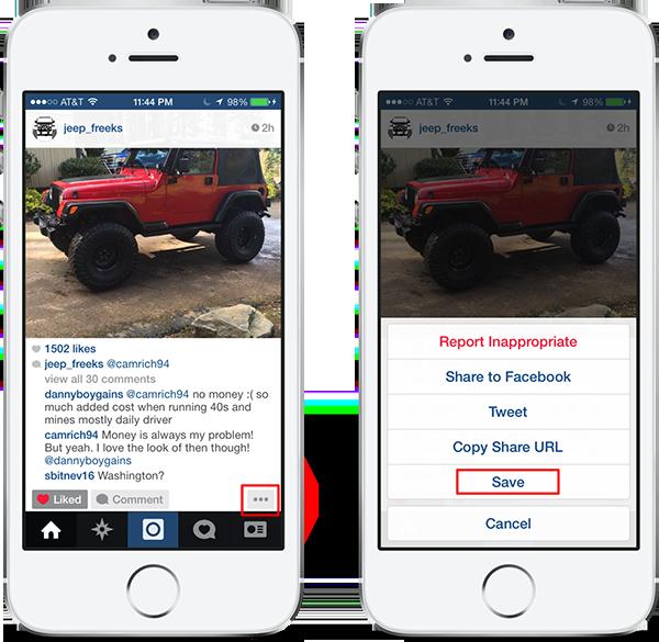 SaveGram cydia tweak lets you save Instagram photos to the