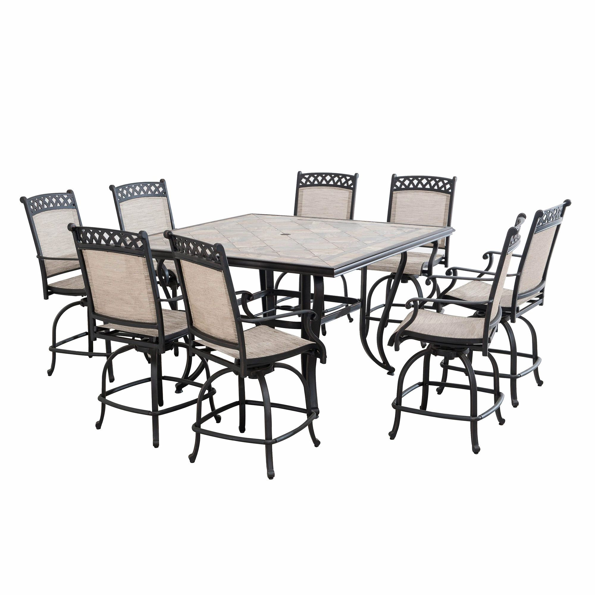 berkley jensen milan 9 pc high dining set bj s wholesale club