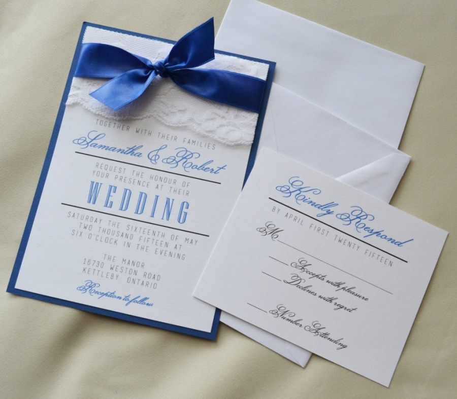 Cheap Print Your Own Wedding Invitations: 25+ Wonderful Picture Of Royal Blue Wedding Invitations