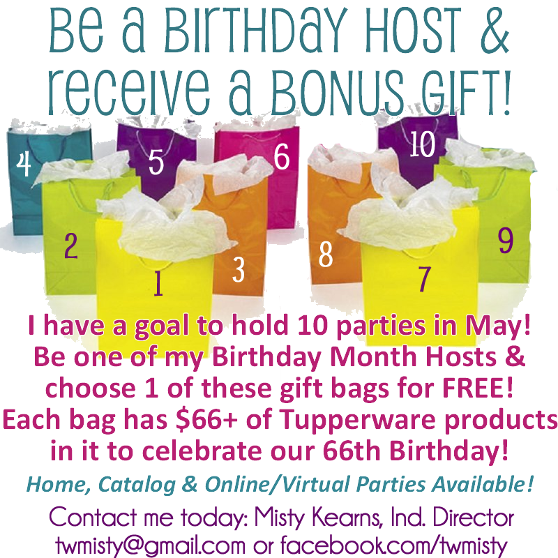 May is #Tupperware\'s birthday month but all the gifts are for you ...