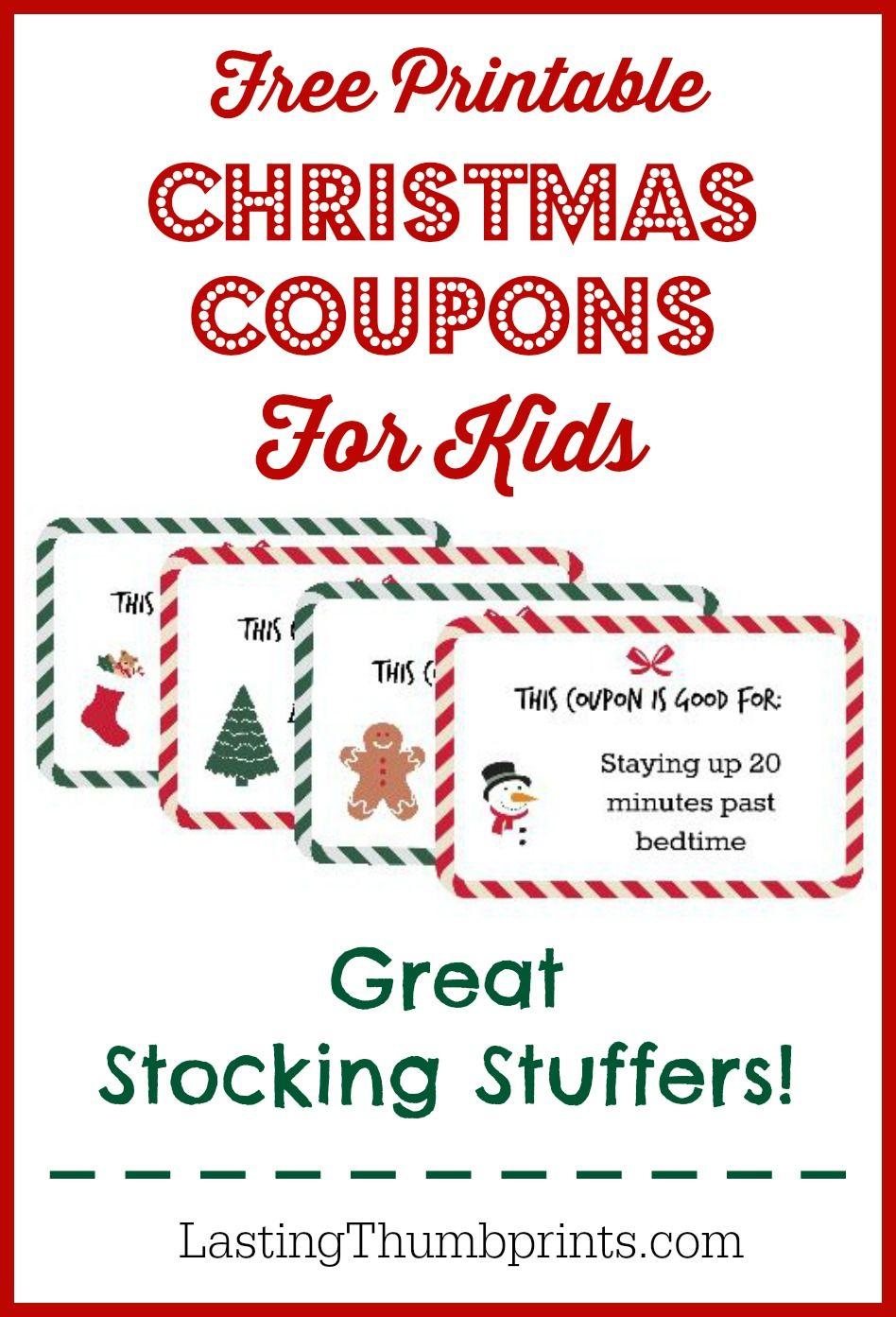 Christmas Coupons For Kids Free Printable Christmas Coupons
