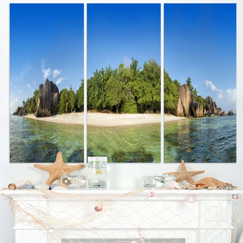 DESIGN ART Paradise on Earth Seychelles Island - Seashore Print