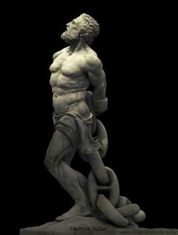 In Greek mythology, Iapetus, also Iapetos or Japetus ...Iapetus Titan Greek Mythology