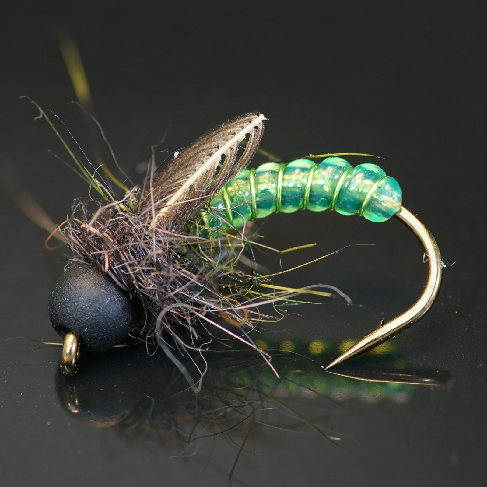 Casey's DRib Caddis Pupa Fly fishing for beginners, Fly