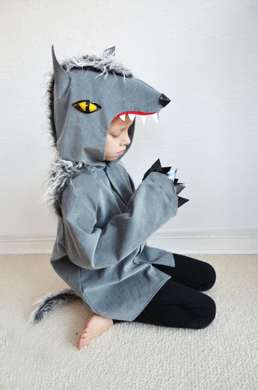 wolf werwolf hund kinderkost m halloween von maiiberlin auf etsy. Black Bedroom Furniture Sets. Home Design Ideas