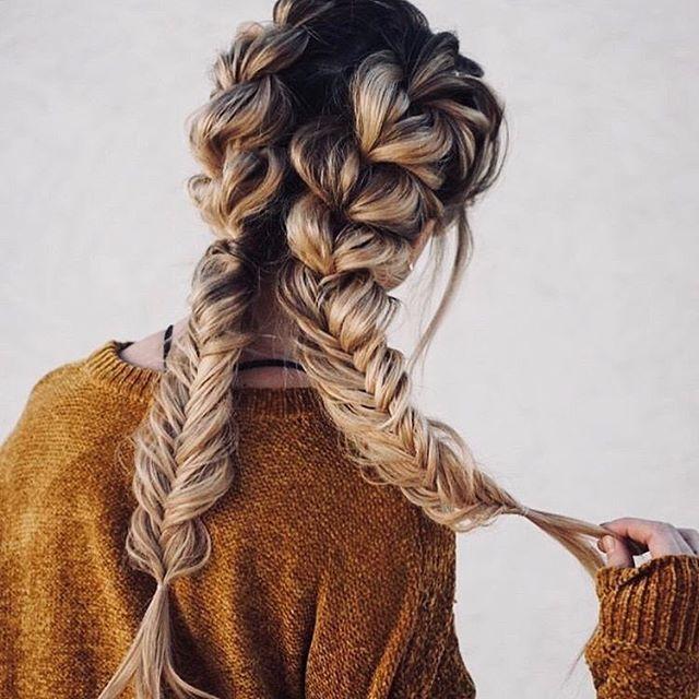 Pretty fishtail braids