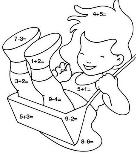 Dibujo de niña de sumas y restas | Drawings / Illustrations ...