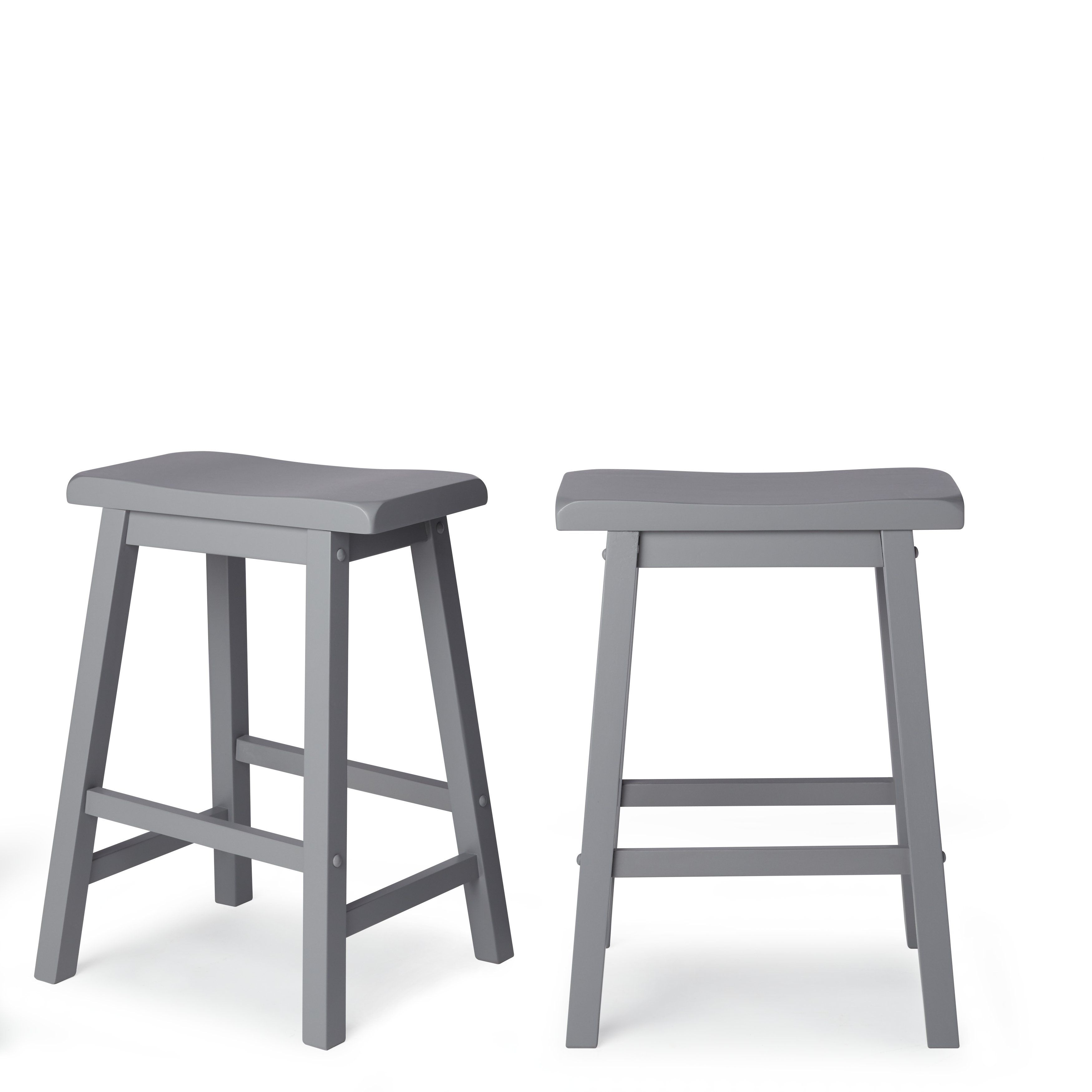 Salvador Saddle Back 24 Inch Counter Height Backless Stool Set Of 2 By Inspire Q Bold Black Counter Height Stools Stool Furniture