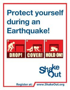 Learn Earthquake Safety Tips Now   with ShakeOut Earthquake Drill, Sunset Survival Earthquake Kits