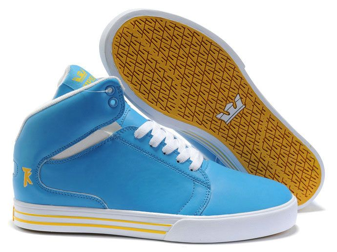 best website 7ca76 75463 Supra TK Society Mid Mens Shoes In Sky Blue White Yellow  56.98