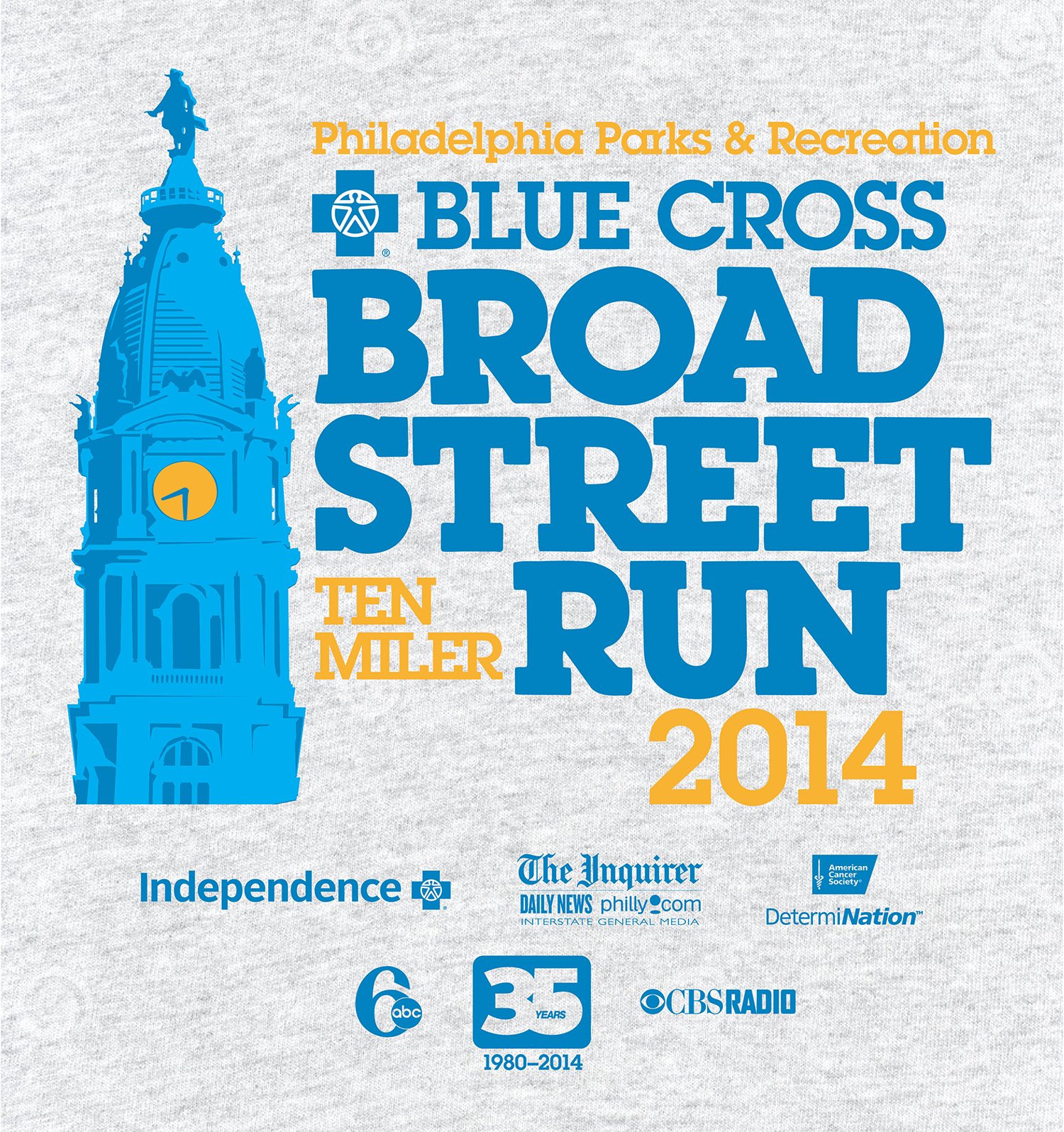 Blue Cross Broad Street Run 2014 35th Anniversary Blue Cross Broad Streets Street Run