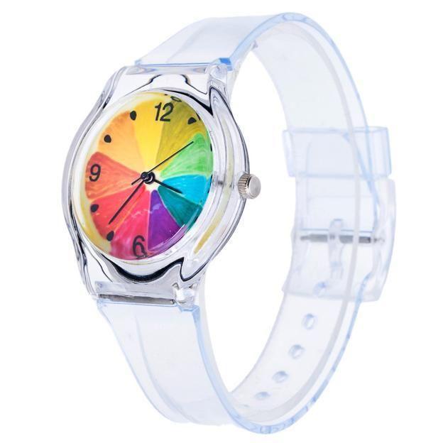 Watches New Arrival Korean Style Transparent Kids Watches Lovely Children Students Dress Clock Quartz Wristwatch As Gift 2017 Hot Sales
