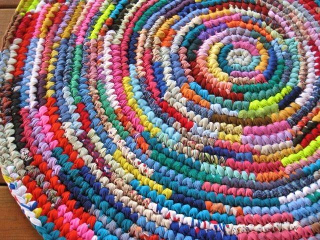 Burst Of Color Crochet Area Rag Rug Rag Rug Tutorial Rag Rug Diy Braided Rag Rugs