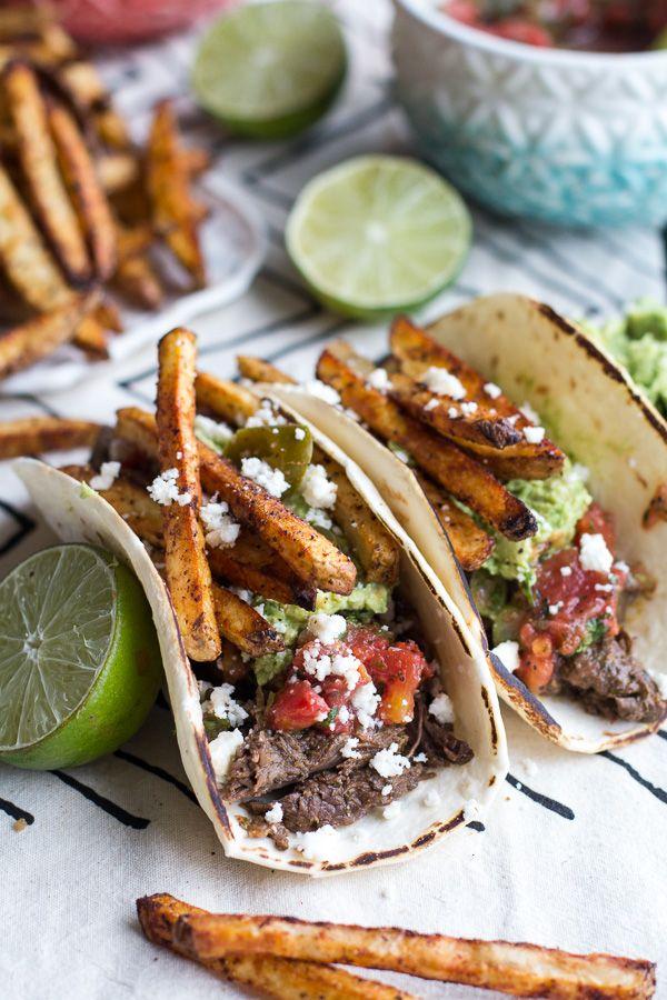 Loaded Crockpot Carne Asada Tacos Recette Nourriture