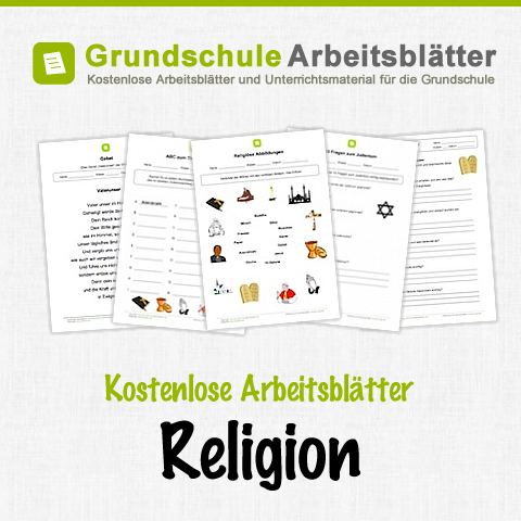 kostenlose arbeitsbl tter und unterrichtsmaterial f r den sachunterricht zum thema religion in. Black Bedroom Furniture Sets. Home Design Ideas