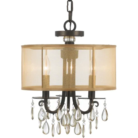 Crystorama Lighting Group 5623 Drum Shade Chandelier Mini Chandelier Chandelier Shades