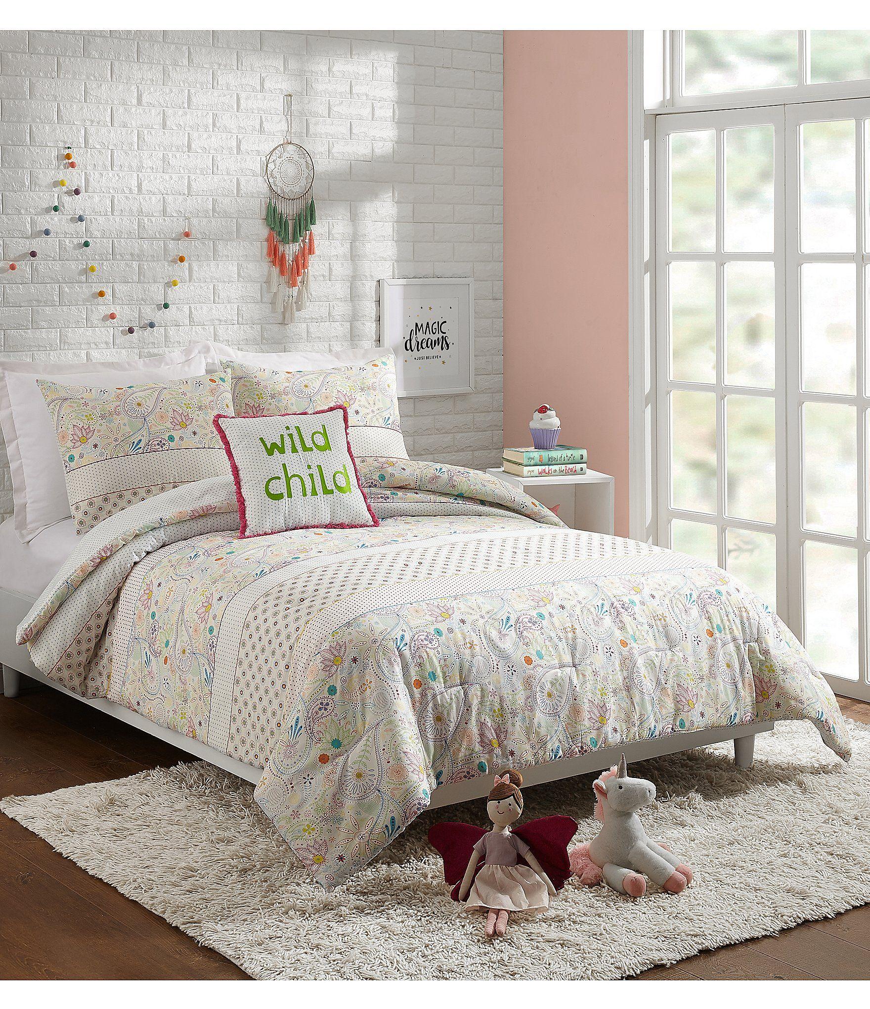 Jessica Simpson Kids Whimsical Paisley Comforter Set | Dillard's