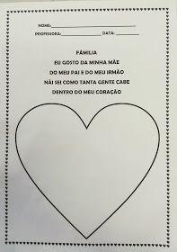Atividade Com O Poema Minha Familia De Pedro Bandeira Com Imagens