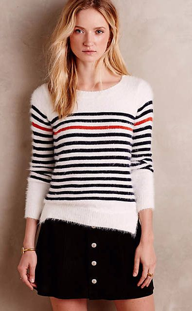 Rouge Stripe Pullover #anthrofave
