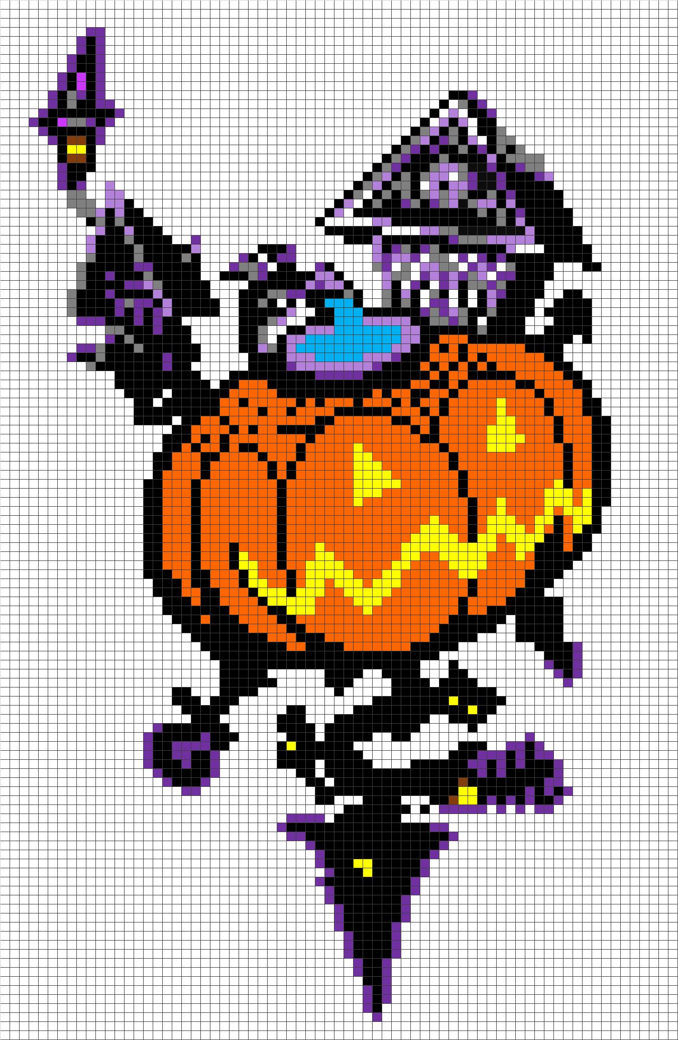Kh Halloween Town Template Minecraft Pixel Art Ideas Pinterest