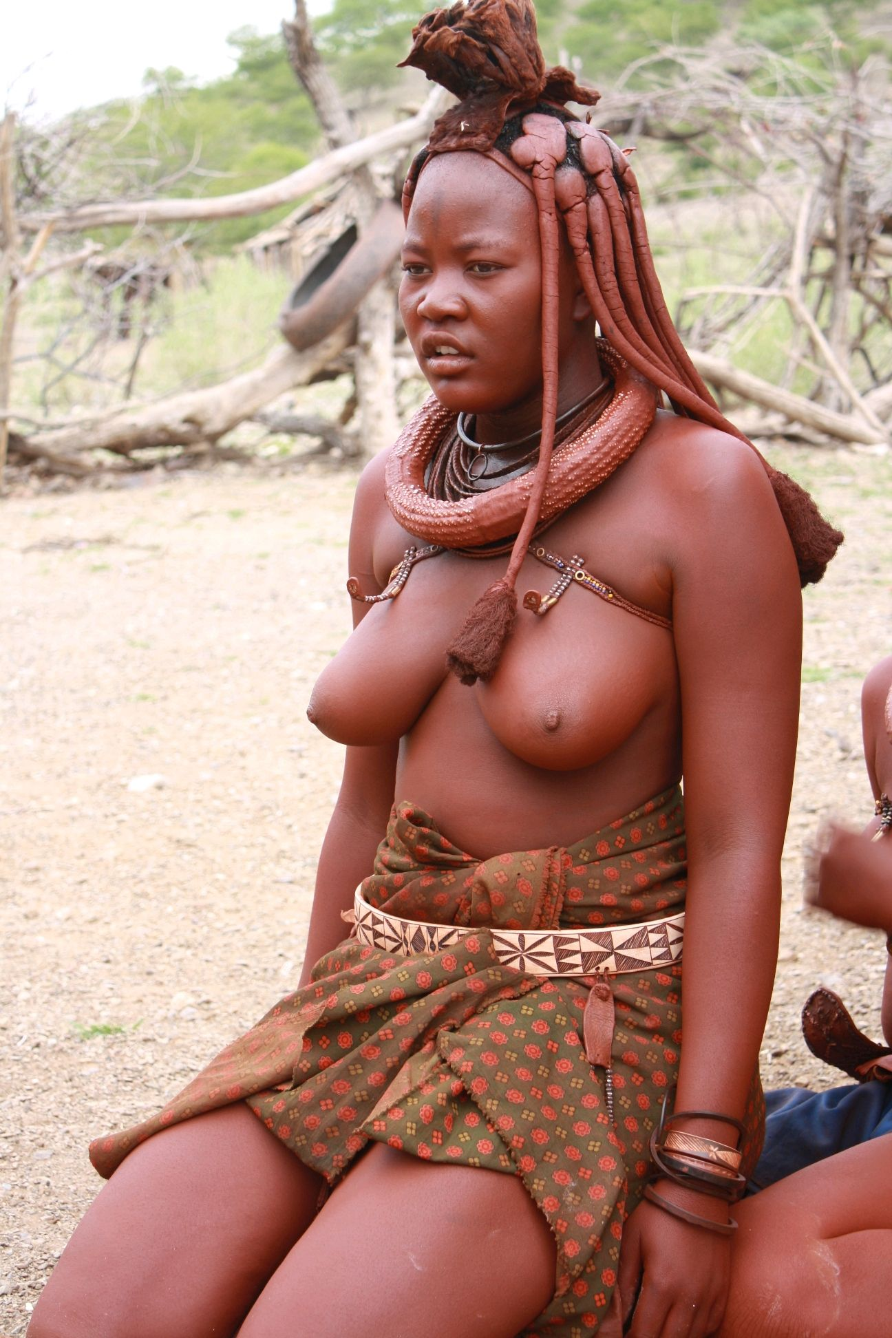Big naked breasted africans