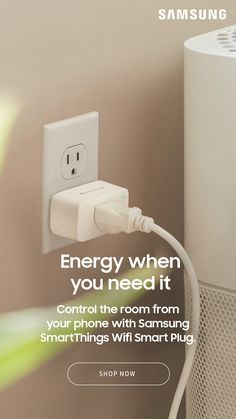 Samsung SmartThings Wifi Smart Plug, White in 2020 Wall
