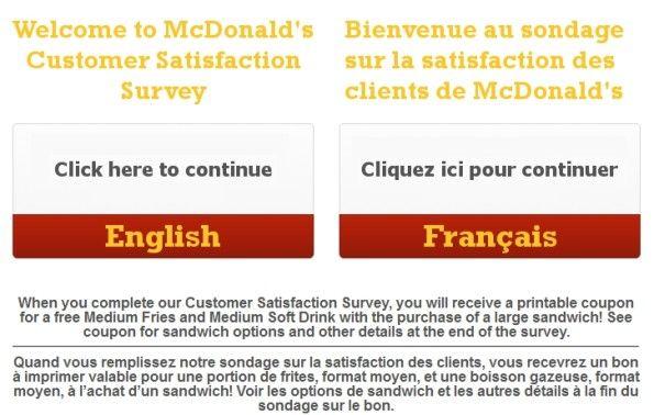 McdonaldS Canada Customer Satisfaction Survey WwwMcdonalds