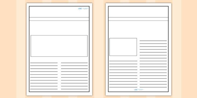 Newspaper Template Reading Printables Pinterest Newspaper And