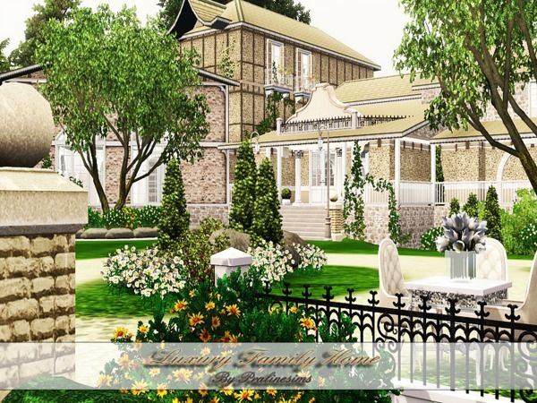 Luxury Family House By Pralinesims Sims 3 Downloads Cc Caboodle Sims House Sims 3 House Luxury Family
