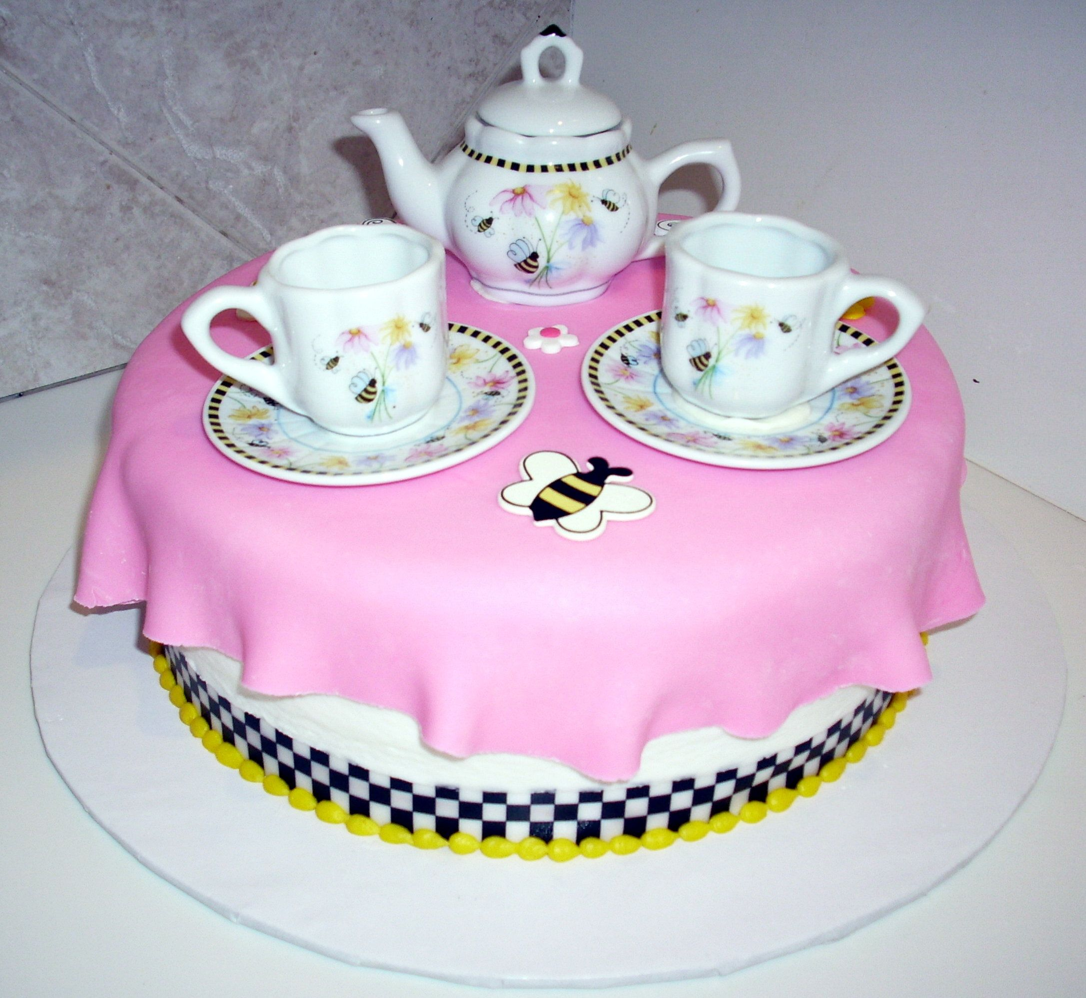 Tea party cake cakes pinterest tea parties teas and afternoon tea tea party cake baby shower filmwisefo Choice Image