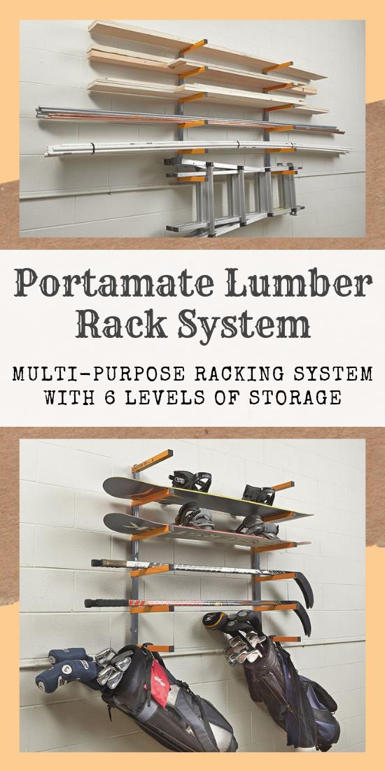 Bora Portamate Lumber Rack System 6 Tier Lumber Rack Lumber