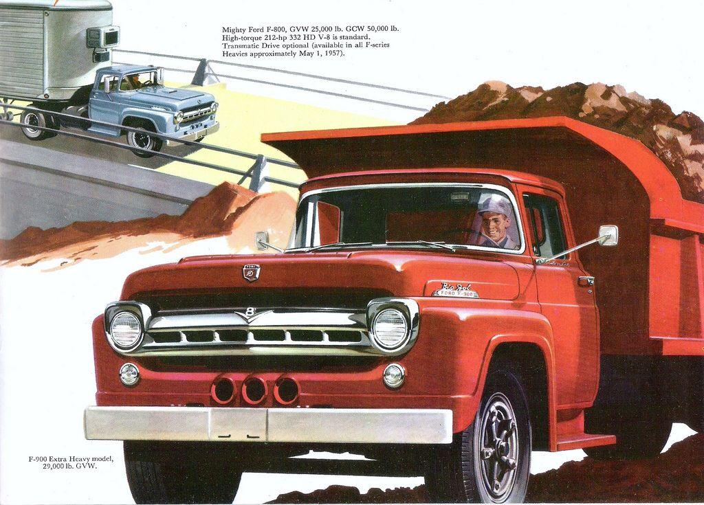 1957 Ford F900 Big Job Dump Truck Trucks Ford Ford Trucks