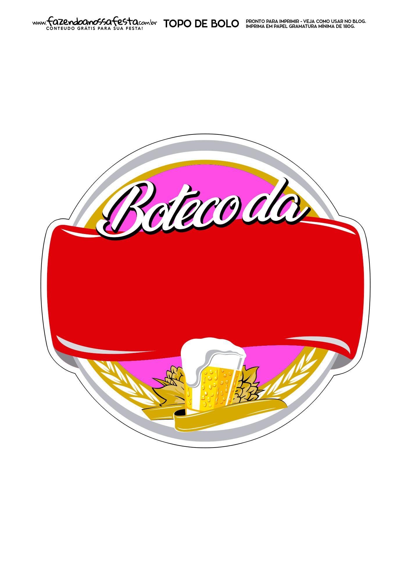 Topo De Bolo Boteco 7 Bolo Boteco Convite De Aniversario Boteco