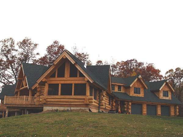Log Home Black Roof Lake House House Exterior House Styles