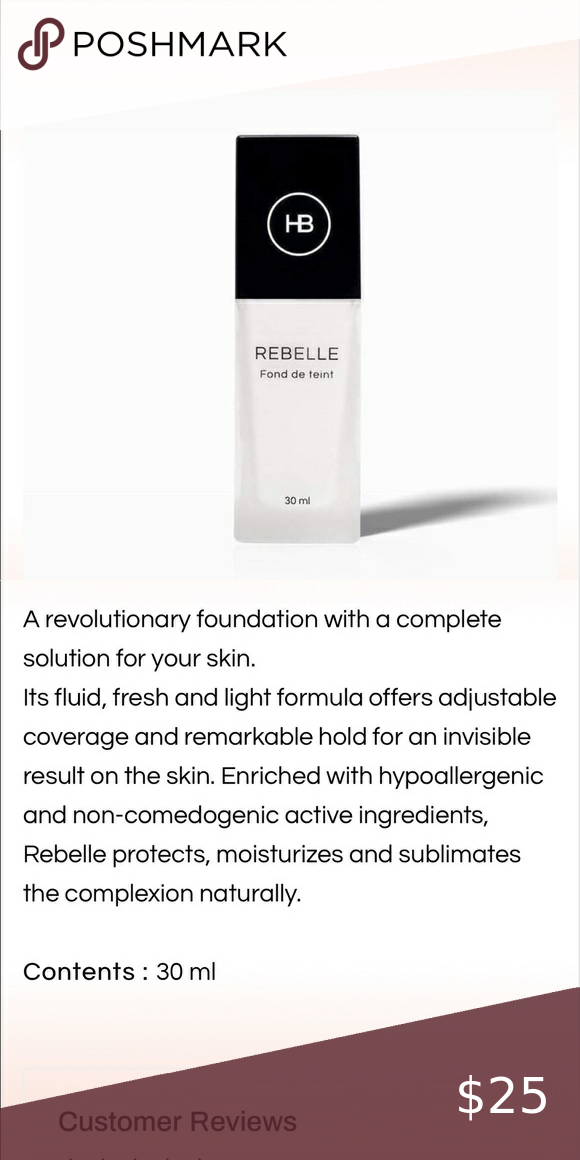 Rebelle Foundation Hailey Beauty Foundation Makeup Foundation Beauty