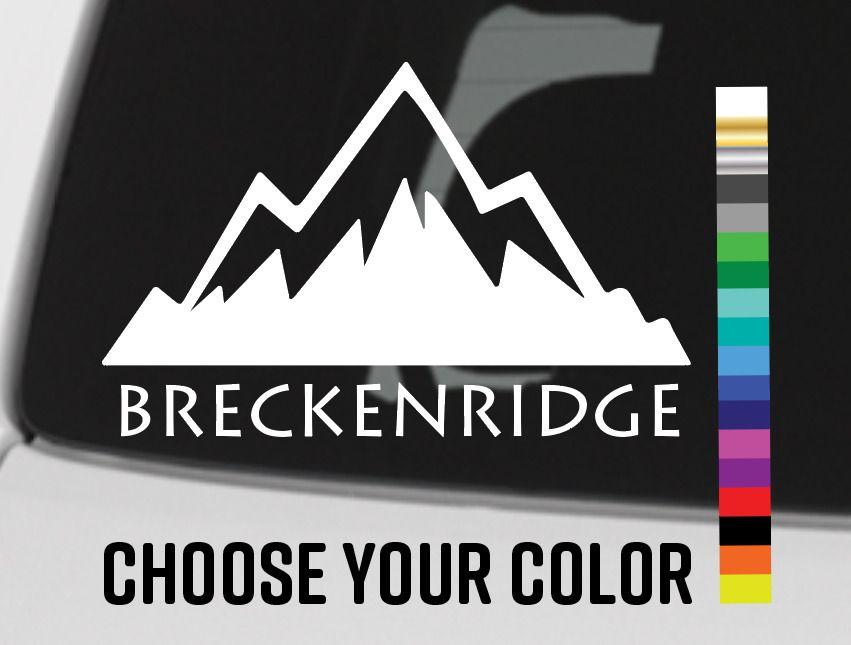 "Breckenridge Sticker Decal Breck Colorado 5.5/"" Ski Mountain Die Cut XO"