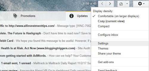 recall gmail email